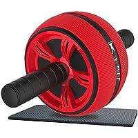 Preisvergleich für AB Roller Bauchtrainer AB Wheel für Fitness Bauchmuskeltraining - Inklusive Gratis Trainingshandbuch und Kniematte - (Bauchtrainer, Bauchmuskeltrainer, Bauchroller, Ab Roller, Bauchrolle, Bauchmuskel Gerät)