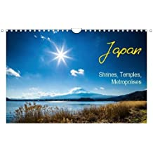 Japan Shrines, Temples, Metropolises (Wall Calendar 2019 DIN A4 Landscape): Pictures of Japan: old Temples, Castles and modern Metropolises (Monthly calendar, 14 pages ) (Calvendo Places)