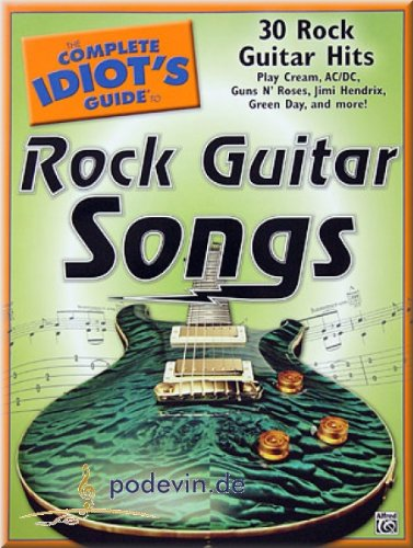 Rock Guitar Songs - 30 Rock Guitar Hits - Gitarre Noten [Musiknoten] -