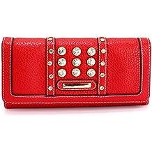 Xardi London Trifold mujeres bolso de mano Funda rígida para mujer niña moneda notas cartera diamante bolsa de embrague