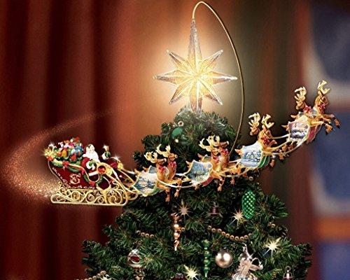 Van Eyck Navidad de Los trineos de renos por Thomas Kinkade Sueños de Disney Pintura impresiones sobre tela pared del arte de la foto para la sala decoración para el hogar