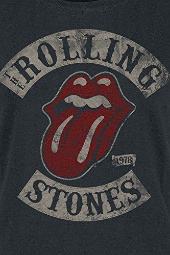 Rolling Stones 1978 Maglia Donna Nero Nero
