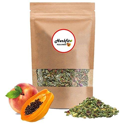 HERBFIT – Peach & Papaya Herbal Detox Tea – Detox Plus, Slimming tea, Diuretics for Water Retention, Weight Loss, Slimming Tea, Weight Loss Tea, Detox Plus, Detox Drink, (28 Days – 100 Gr.)