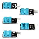 WINGONEER 5PCS der Temperatur Feuchtigkeitssensor Modul Digital DHT11 für Arduino Himbeere Pi 2 3