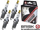 BRISK Iridium Premium+ Plus P5 1623 Bougies d'allumage, 4 pièces