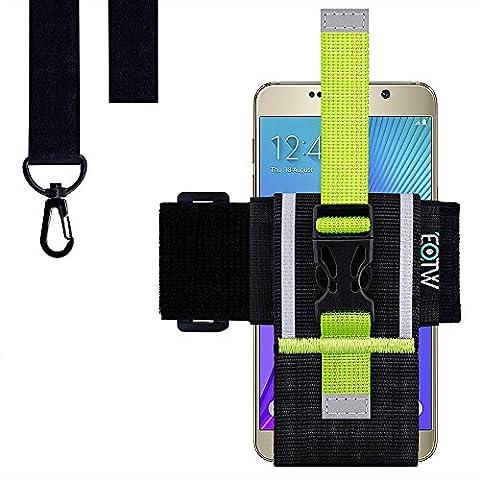 iPhone Armband, EOTW Sport Armband für iPhone 6 / 6s Plus, Samsung Galaxy S7 Universelles Smartphone Lauf Armband mit Schlüsselband für Outdooaktivitäten (5.5 Zoll )