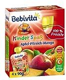 Bebivita Apfel-Pfirsich-Mango 4 x 90g, 6er Pack (6 x 360 g)