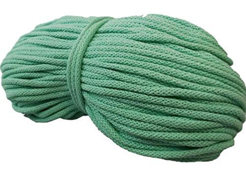Amazinggirl Baumwollkordel 100M Baumwollschnur BW-Kordel 5mm Baumwolle Schnur Natur Deco viele Farben