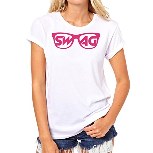 SWAG Pink Glasses Damen T-Shirt Weiß