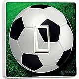 stika.co - Adhesivo decorativo para interruptor (vinilo), diseño con balón de fútbol