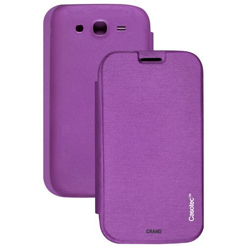Casotec Premium Flip Case Cover for Samsung Galaxy Grand i9082 - Purple  available at amazon for Rs.179