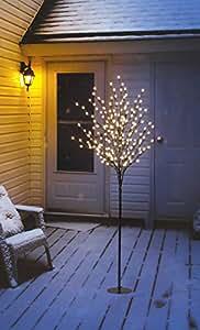 led lichterbaum mit 200 leds beleuchtet 150 cm hoch warm wei lichterzweig lichterkette. Black Bedroom Furniture Sets. Home Design Ideas