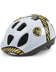 Casco de Ciclismo Antimosquitos para Niño Color Blanco DANGER de Bicicleta 3621