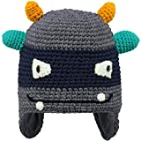Barts Unisex Baby Baskenmütze Monster, Grau (Dark Heather 19), One Size (Herstellergröße: 55)