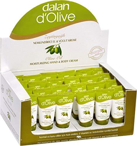 24 x Dalan d'Olive Hand & Körper Feuchtigkeitscreme für normale bis trockene Haut (24 x 20ml) SPARPACK -