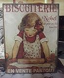 plaque 'biscuiterie nobel' 27*35 cm