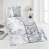 Dreamhome24 2 tlg. Bettwäsche Moderne Hochwertige Microfaser 135x200 155x220 Kissenbezug 80x80, Design - Motiv:Design 3, Größe:155 x 220 cm