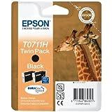 Epson Original T0711H High Capacity Black Ink Cartridge Twin Pack