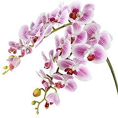 Idea Regalo - Famibay Orchidea Fiori Artificiale Rami Orchidee Finte Phalaenopsis per Interni Casa Decorazione 2Pz
