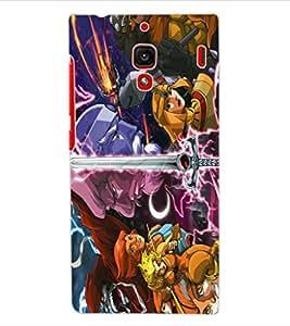 ColourCraft Cartoons Design Back Case Cover for XIAOMI REDMI 1S