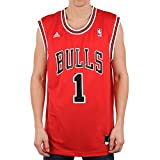 adidas Chicago Bulls Derrick Rose NBA Replica Home Maillot Homme Rouge/Noir  -  FR :  L