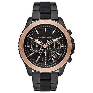 Michael Kors Herren Chronograph Quarz Uhr mit Edelstahl Armband MK8666