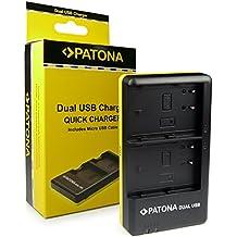 PATONA Dual Cargador DMW-BLF19 para Bateria Panasonic Lumix DMC-GH3 GH3A GH4 con micro USB