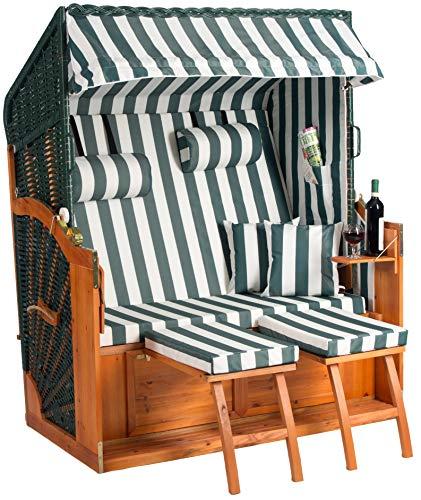 Fauteuil-cabine de plage Binz XL - Prémonté - Vert - Largeur : 132 cm