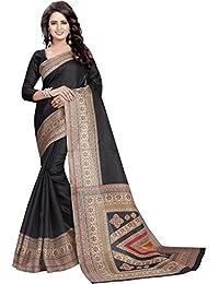 Ishin Kalamkari Art Silk Black Printed Party Wear Wedding Wear Casual Wear Festive Wear Bollywood New Collection...