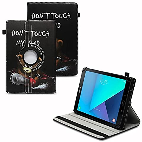 NAUCI Samsung Galaxy Tab A6 10.1 2016 Robuste Universal Tablet Schutzhülle aus hochwertigem Kunstleder Hülle Tasche Standfunktion 360° Drehbar kombiniert Schutz und Design in 9 verschiedenen Farben und 11 Motiven Cover Case Schutzhülle, Farben:Motiv
