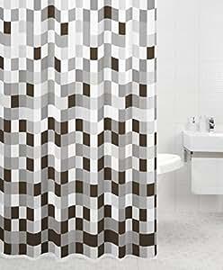 rideau de douche polyester guggenheim cuisine maison. Black Bedroom Furniture Sets. Home Design Ideas