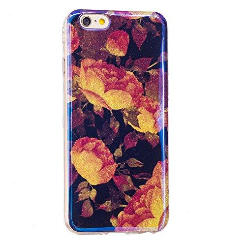 Für Apple IPhone 6 u. 6s Fall, ultra dünnes helles Gewicht-Luxuxblau-Licht TPU Silikon-Gel-schützende rückseitige Abdeckung ( Color : L ) L