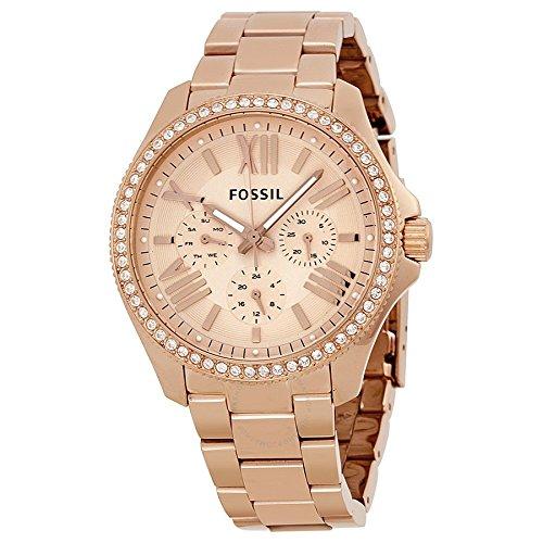 9d455629ff5e Reloj Fossil AM4483 de cuarzo para mujer con correa de acero inoxidable  bañado