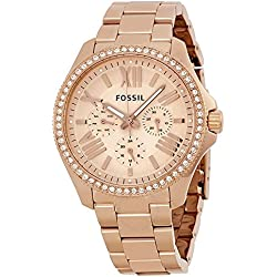 Fossil Chronograph Rose Dial Women's Watch - AM4483