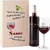 Leonardo Weinglas inklusive Namensgravur mit Bree Rotwein in Geschenkverpackung mit Wunschnamen