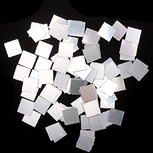 PetHot 100 Pcs Mirror Tile Wall Sticker 3D Decal Mosaic Decor Self Adhesive Modern Home Art Room Bedroom Office Decoration DIY