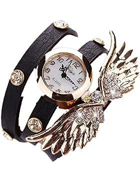 Sunnywill Frauen Mädchen Damen Schöne Mode Casual PU Leder Armbanduhr für Weibliche