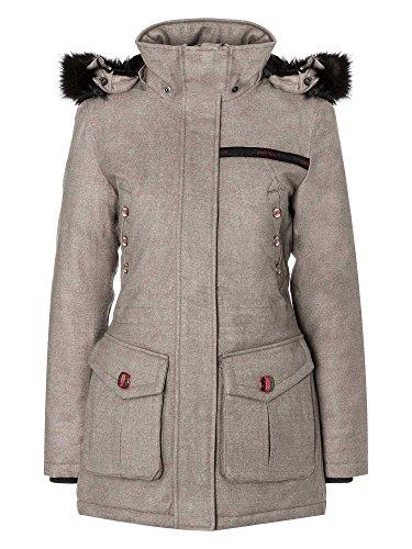 petrûs Damen Wintermantel winddicht, wasserabweisend, atmungsaktiv warm hellbraun 42/XL
