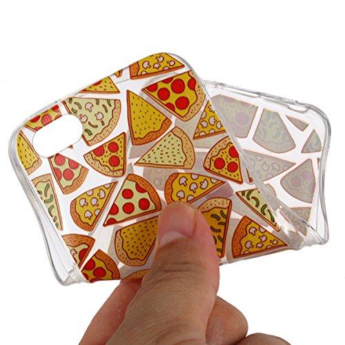 iPhone 5S / iPhone SE Hülle, Voguecase Silikon Schutzhülle / Case / Cover / Hülle / TPU + PC Gel Skin für Apple iPhone 5 5G 5S SE(Grüne Blätter) + Gratis Universal Eingabestift Pizza