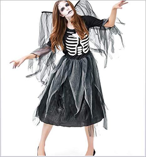 CHUAGNQI Halloween-Karneval-Kostüm-Erwachsener Zombie Skeleton Druck Gefallene Dark