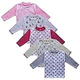 MEA BABY Unisex Baby Jäckchen Langarmshirt 5er Pack. Baby Shirt. Baby Jacke Jungen Baby Jacke Mädchen (74, Mädchen)