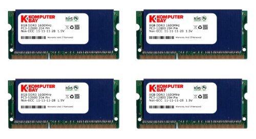 Komputerbay–memoria per pc portatile, 1600mhz, sodimm, cl10) 32gb (4x 8gb) blue