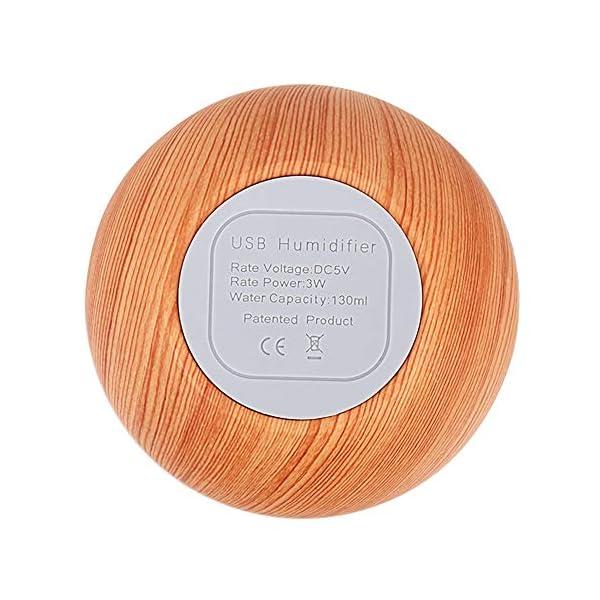 SANJIBAO 130 ml de Madera del Grano de aromaterapia humidificador Aroma Essential USB LED difusor del Aceite del Aire… 4