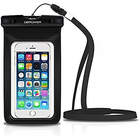 DBPOWER Funda Impermeable Móvil, Funda Bolsa Sumergible y Colorida para iPhone 6/6 plus/6s/6s plus/5/5s/4, Samsung Galaxy S6/S6 Edge/S5/S4, Note 4/3/2, Certificado IPX8 para 100 Pies, Ventana Transparente y Sensible al