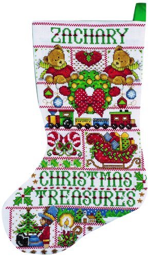 (Design Works Christmas Treasures Stocking Counted Cross Stitch Kit-17 Long 14 Count)