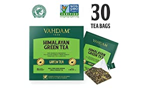 Green Tea Leaves from Himalayas (30 Tea Bags), 100% Natural Detox Tea, Weigh Loss Tea & Slimming Tea, RICH NATURAL IN ANTI-OXIDANTS, World's Finest Green Tea Loose Leaf, Packed at Source