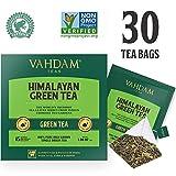 Tè verde in foglie dall'Himalaya (30 bustine) - 100% Tè naturale disintossicante e snellente, perfetto per perdere peso. RICCO DI ANTIOSSIDANTI. Il miglior tè verde in foglie al mondo, confezionato direttamente in India