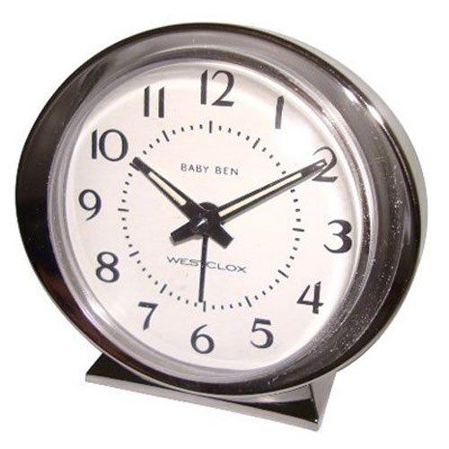 WESTCLOX 11611 Baby Ben Classic Key-Wound Silvertone Alarm Clock