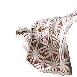 Korallenrote Fleece-Decke mit Satin-Kanten - Extra weiches, gebürstetes Polyestergewebe - Leichte und dauerhafte Bett- / Couchdecke - Maschinenwaschbare Sherpa-Decke über Decke,Pink,160*210cm