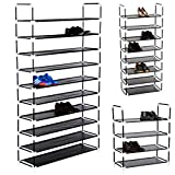 MIADOMODO Schuhregal 8 oder 10 Ebenen Schuhständer Schuhablage Stecksystem Schuhschrank